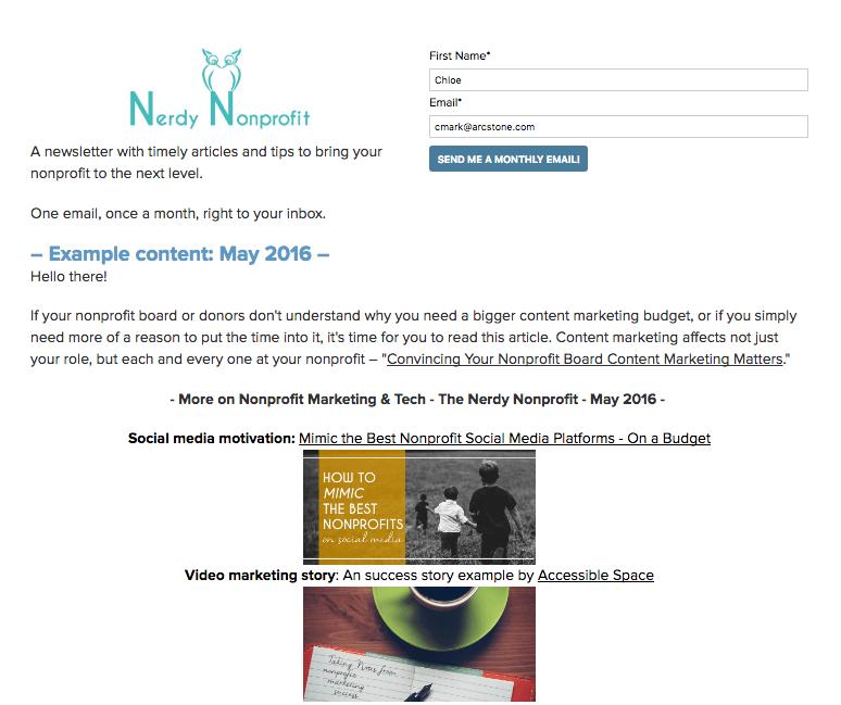 nonprofit-landing-page-example