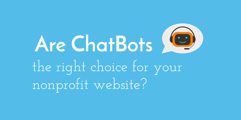 Using Chatbots on Your Nonprofit Website